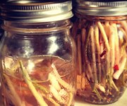 Mackensy Lunsford's pickled ramps.
