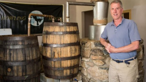 Dan Pierce at Asheville's Howling Moon Distillery. Courtesy Univ of NC/Asheville.