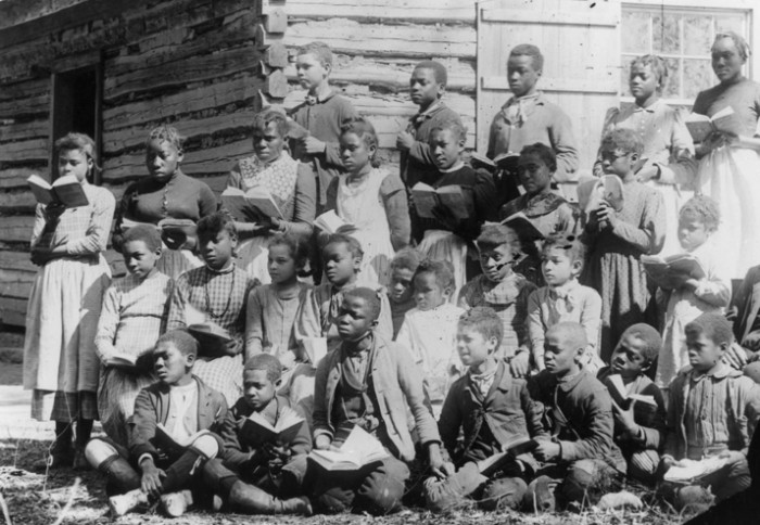 African American school children, 1895, location unknown.