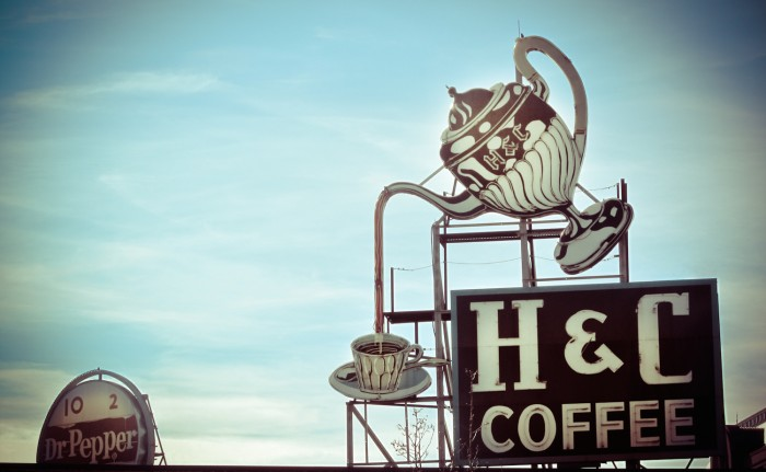 Classic signs in Roanoke, Virginia. Photo by Victoria Belanger on Flickr.