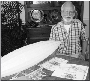 Dyer descendant Jack Allen, a retired Delta Airlines mechanic. crafted every piece of Clark Dyer's airplane model to scale. Photo courtesy of The Towns County Herald.