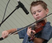 Young fiddler Carson Peters performs at Blue Ridge Music Center. Photo by Erynn Marshall.