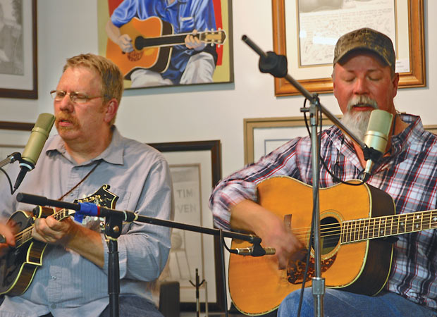 Steve Lewis (right) and Scott Freeman at The Front Porch Gallery and Frame Shop.