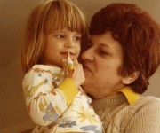 Writer Anna Lea Jancewicz and her grandmother in the mining town of McAdoo, Pennsylvania, 1979.