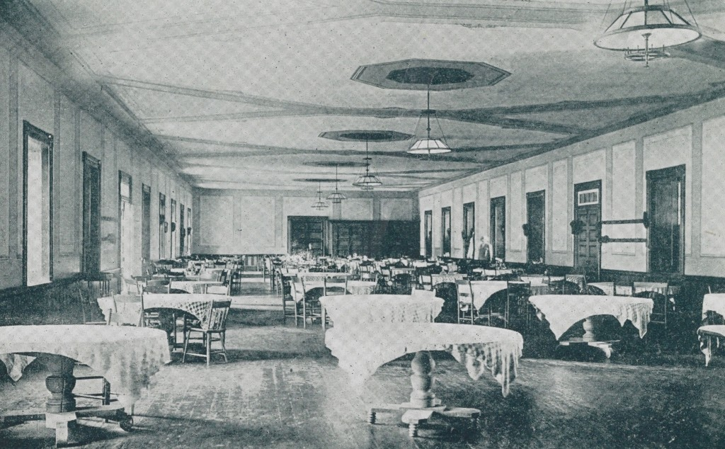 The dining room during its heyday.